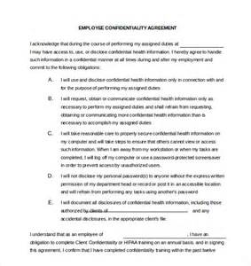 Employee Confidentiality Agreement Template Free confidentiality agreement template 15 free word excel