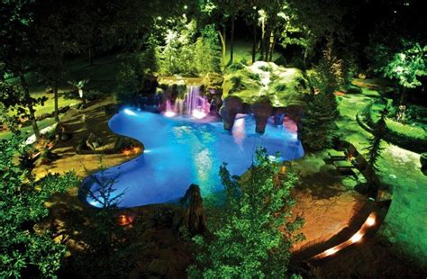 backyard grotto giant pool grotto natural and manmade stone caviness