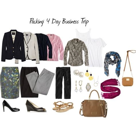 packing list business travel outfits travel chic fashion