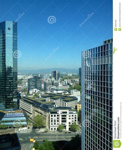 community bank germany frankfurt cityscape editorial image image 34261465