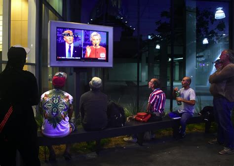 By The Early Evening People Start To Gather At The Port Get Their   more people watched trump lose monday night s debate than