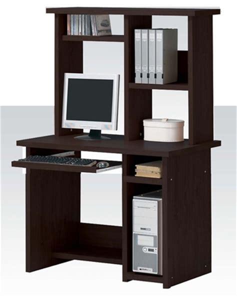 Computer Desk Espresso Finish Computer Desk W Hutch In Espresso Finish Ac04690dh