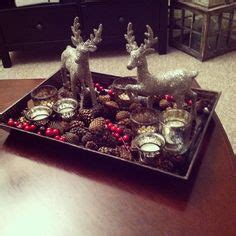 decorating coffee table for christmas ponterest create a coffee table moment with a tray filled with ornaments and candles home for