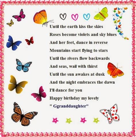 Happy Birthday Wishes For A Granddaughter 52 Best Happy Birthday Poems My Happy Birthday Wishes