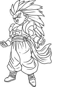 goku coloring pages cooloring