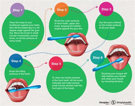 How Do You Clean A by Brushing Guide Denplan By Simplyhealth Professionals