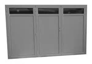 porte de garage aluminium isol 233 3 vantaux standard h 2
