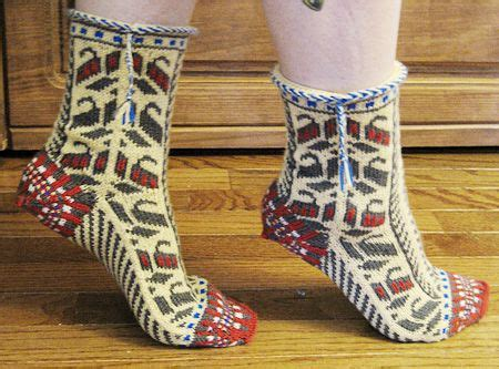 ethnic pattern socks free bosnian slipper socks ethnic knitting adventures