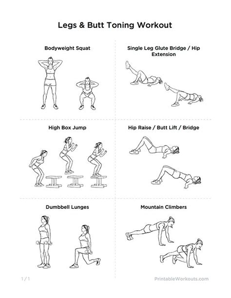 7 Leg Strengthening Exercises by Glutes Legs Toning Workout For