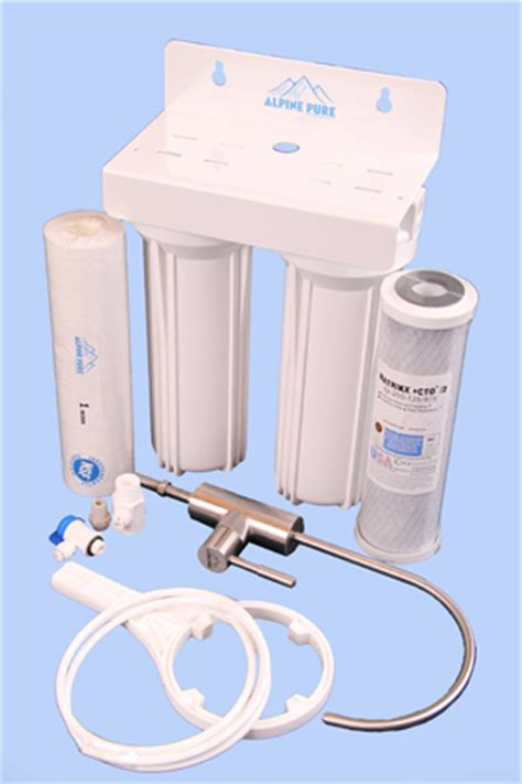 under bench water filter system twub ckx twin under bench water filter ceramikx