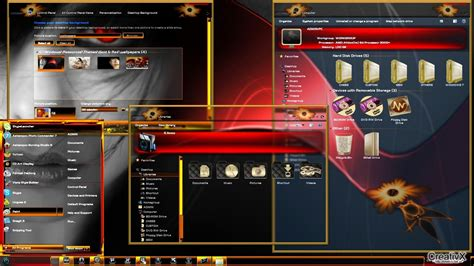 goldfish themes for windows 7 all themes for windows 7 gold red theme for windows 7