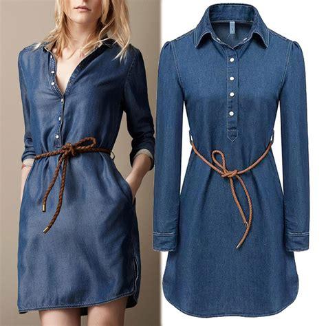 Maxi Denim Lipat 1 2015 dress desigual casual maxi denim dresses vintage summer dress free sashes