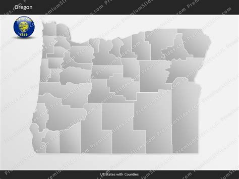 Us State Oregon County Map Template For Microsoft Powerpoint Premiumslides Com Oregon State Powerpoint Template