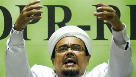 foto habib rizieq shihab polda metro keluarkan surat perintah penangkapan habib