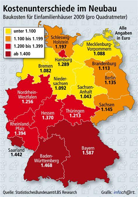 Baupreis Pro Qm by Der Norden Bietet Die Geringsten Baukosten