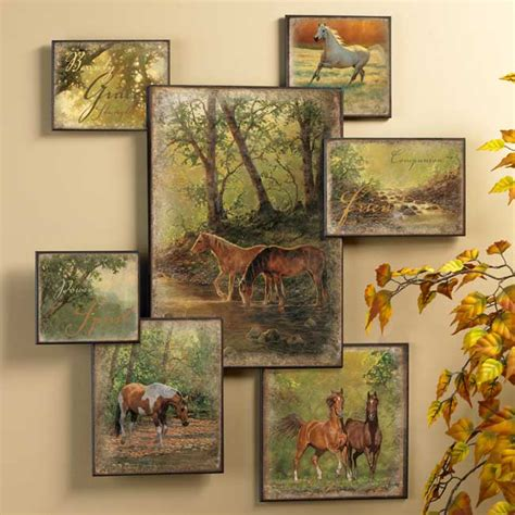 wall art collage horse wall collage wall art western wall decor wild wings
