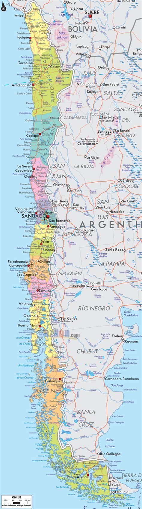 chile political map political map of chile ezilon maps