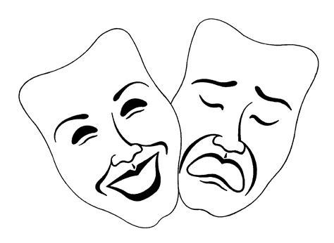 black and white drama drama mask clip cliparts co