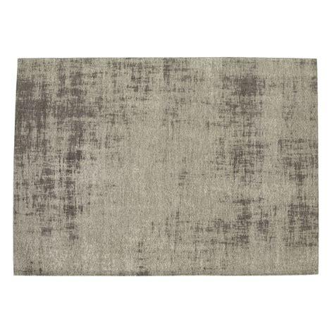 tappeto grigio tappeto grigio in cotone 200 x 290 cm feel maisons du monde