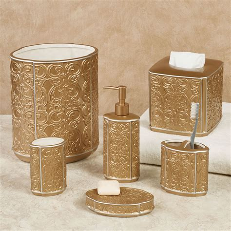 bathroom decor accessories destiny gold ceramic bath accessories
