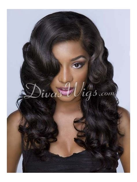 human hair enclosure wavy full lace wigs colorful cheap wigs