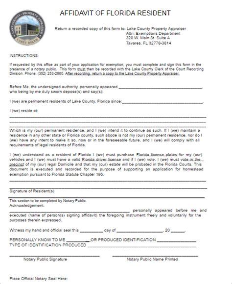 affidavit template florida 77 affidavit form templates free pdf word exles