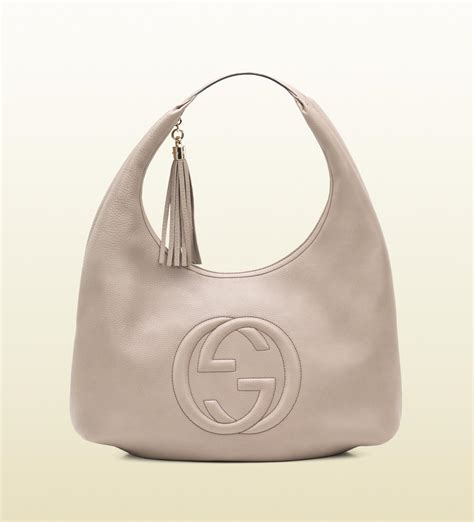 Sho Hobo gucci soho fango colour leather hobo in gray lyst