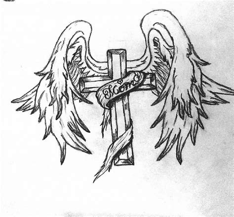 angel wings tattoo with cross 100 most popular tattoos ideas golfian