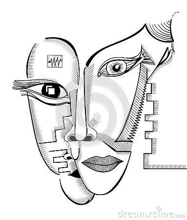 imagenes caras surrealistas caras do desenho da m 227 o no estilo do cubismo molde surreal