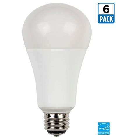 Led Light Bulbs For Home 100 Watt Equivalent Westinghouse 30 60 100 Watt Equivalent Warm White 2 700k A21 3 Way Led Energy Light Bulb