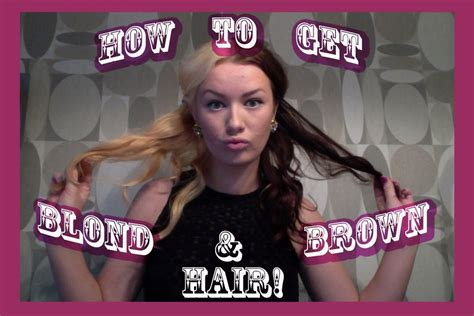 how to dye the top half of your hair how to dye your hair half blonde half brown hair coloring