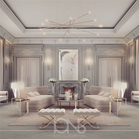 home interior design uae lounge room design in refined transitional style ions design