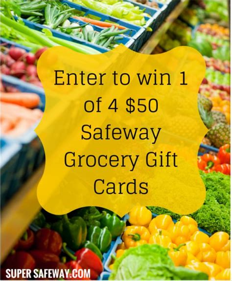 Gift Cards For Sale At Safeway - win 1 of 4 safeway 50 gift cards closed super safeway