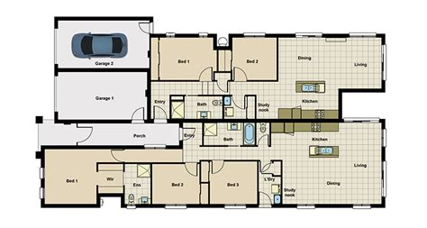 dual living floor plans dual living house plans queensland house plans