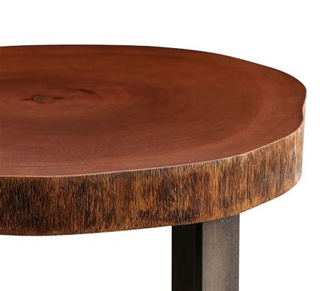 live edge side table waller live edge side table pottery barn