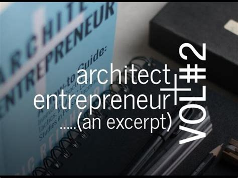architect and entrepreneur vol 2 innovating practice passive income youtube