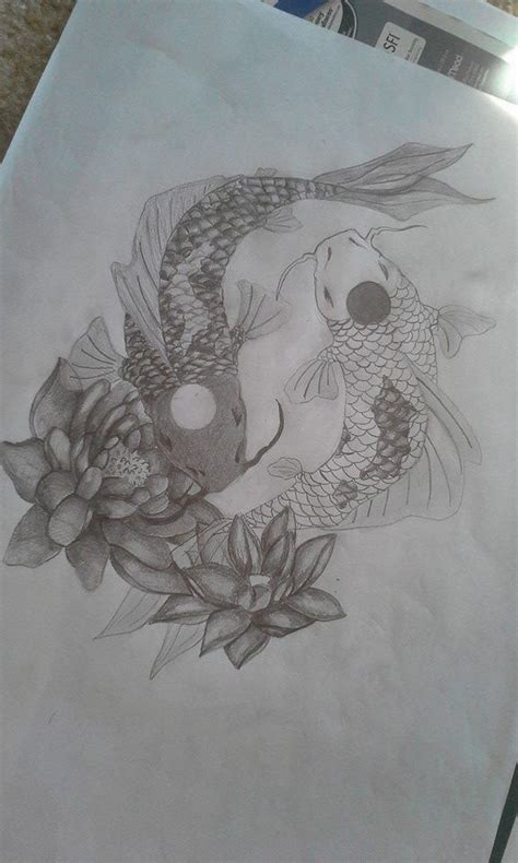 tattoo koi yin yang yin yang koi fish tattoo design by clairewinke tatoos