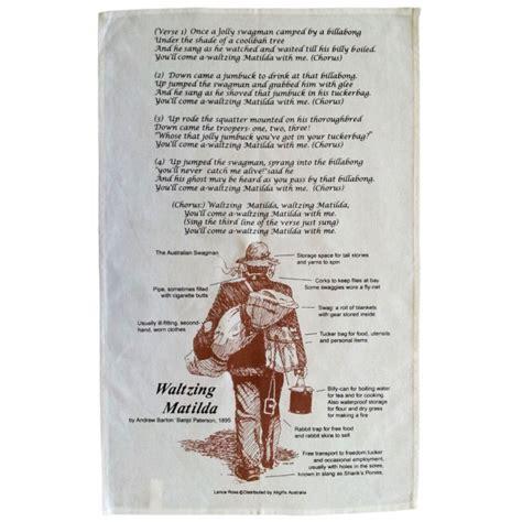 Waltzing Matilda waltzing matilda tea towel
