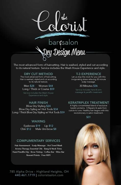 salon ct specialize in hair color salon menu salons and cleveland on pinterest