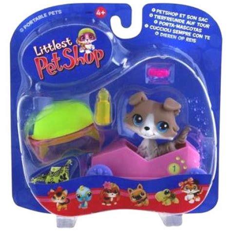 puppy shoo walmart littlest pet shop portable pets collie figure speedy boxcar walmart