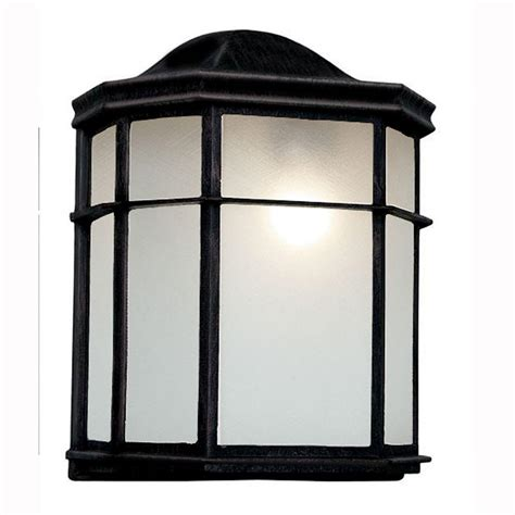 Patio Wall Lighting Bel Air Lighting Energy Saving 1 Light Outdoor Black Patio Wall Lantern With Frosted Acrylic Pl