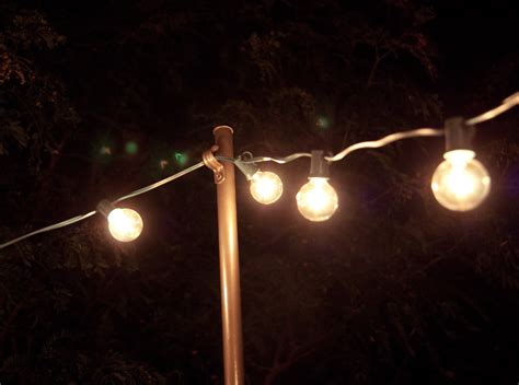 Outdoor String Light Pole Bright July Diy Outdoor String Lights