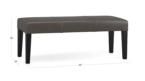 crate and barrel bench seat lowe smoke leather bench crate and barrel
