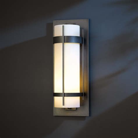 Exterior Wall Sconce with Hubbardton Forge 305895 Banded Led Exterior Wall Lighting Sconce Hub 305895
