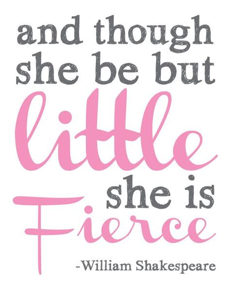 and though she be but little she is fierce tattoo and though she be but she is fierce wall decor