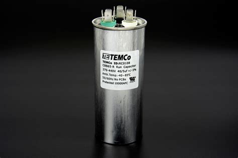 1 uf motor capacitor temco 40 5 mfd uf dual run capacitor 370 440 vac volts ac motor hvac 40 5 ebay