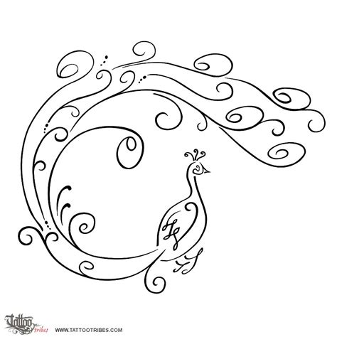 swirl tattoo designs of peacock wholeness dignity custom