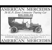 Vintage Daimler Advertising Materials  Advertisement For The American