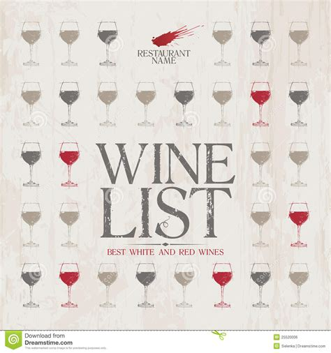 wine list menu template royalty free stock image image