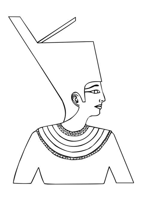 printable egyptian crown ancient egypt pharaoh clipart 38